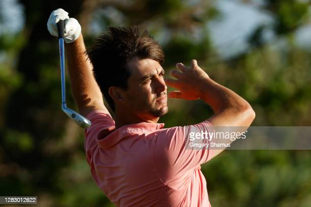Ollie Schniederjans of the United States plays his shot from the sixth tee during the second round of the Bermuda Championship at Port Royal Golf...