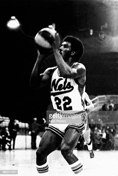 Ollie Taylor of the New York Nets sets up for a shot during an ABA game at the Nassau Veterans Memorial Coliseum circa 1970 in Uniondale New York...