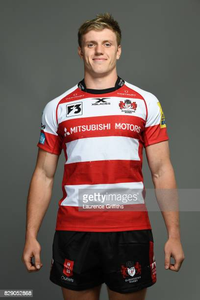 Ollie Thorley of Gloucester Rugby poses for a portrait during the Gloucester Rugby squad photo call for the 20172018 Aviva Premiership Rugby season...