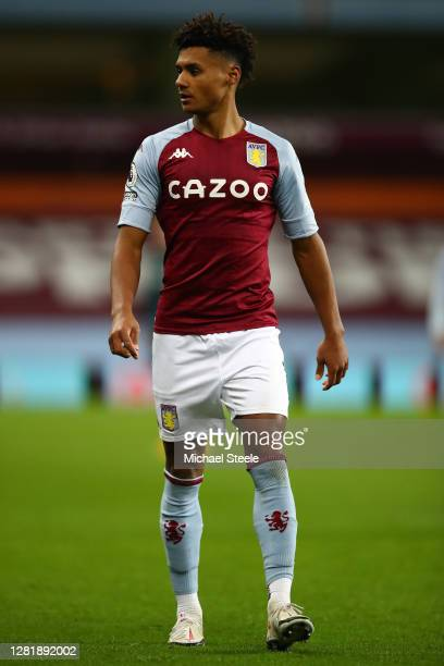 Ollie Watkins of Aston Villa during the Premier League match between Aston Villa and Leeds United at Villa Park on October 23 2020 in Birmingham...