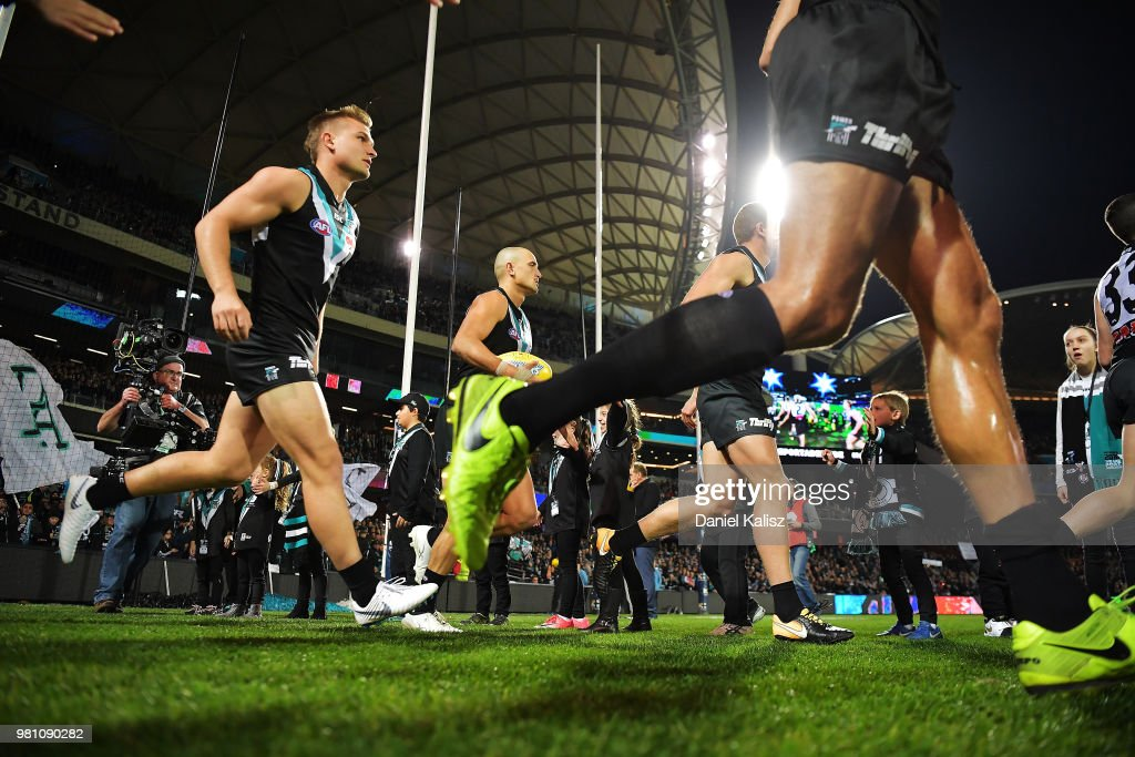 AFL Rd 14 - Port Adelaide v Melbourne : News Photo