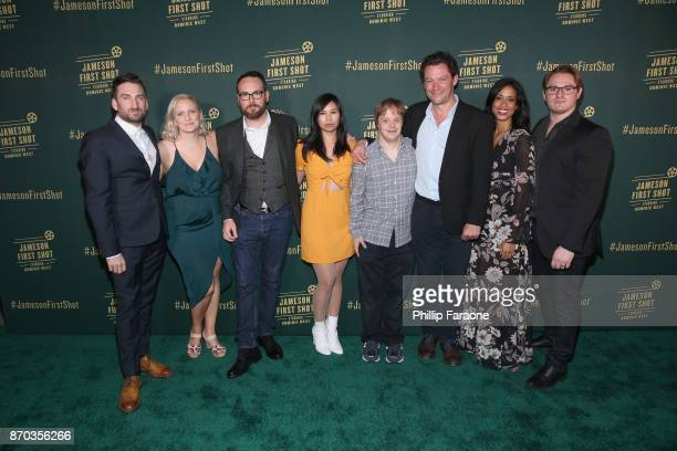 Ollie Wolf, Alice Cogin, producer Dana Brunetti, actor Camille Mana, actor Luke Zimmerman, actor Dominic West, actor Amy Argyle and Jason Manella at...