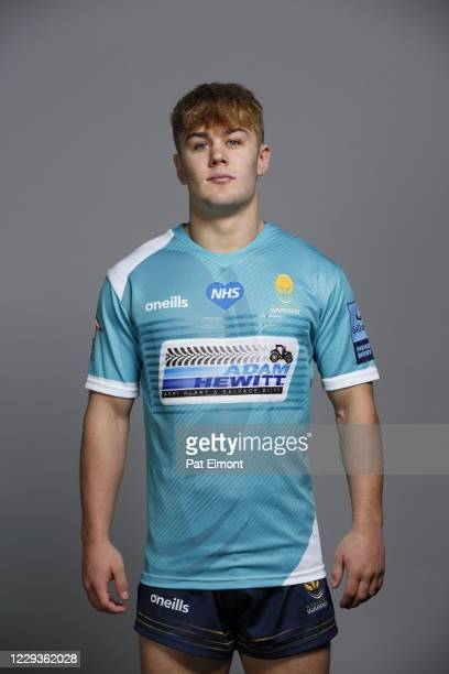 Ollie Wynn poses for a portrait during the Worcester Warriors squad photo call for the 202021 Gallagher Premiership Rugby season on on October 28...