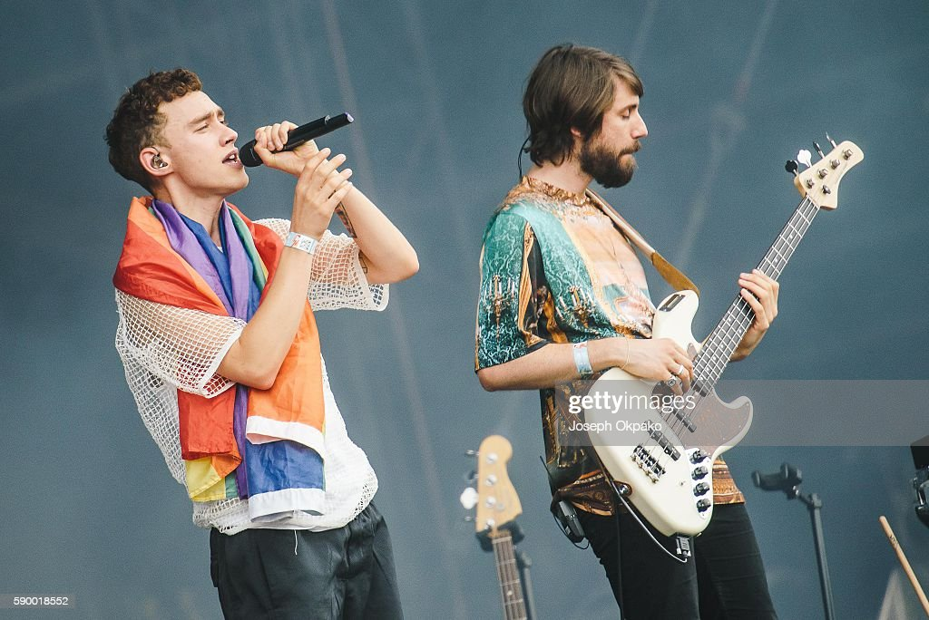 Olly Alexander and Mikey Goldworthy of Years & Years performs on Day 6 at the Sziget Festival 2016 on August 15, 2016 in Budapest, Hungary.