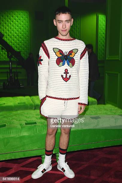 Olly Alexander attends the Gucci show during Milan Men s Fashion Week SS17  on June 20 2016 aea3403a1a