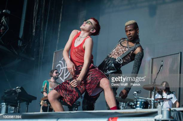 Olly Alexander from Years and Years performs during Lollapalooza Festival at Hippodrome de Longchamp on July 22 2018 in Paris France