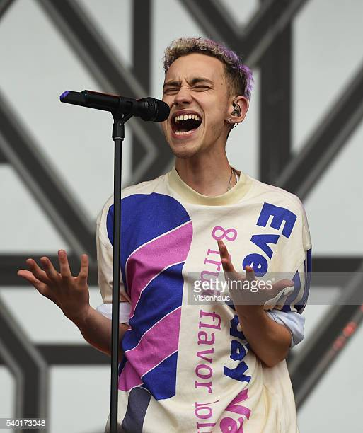 Olly Alexander lead singer with Years and Years performs on the Main Stage of the Parklife 2016 Festival on June 11 2016 in Manchester England