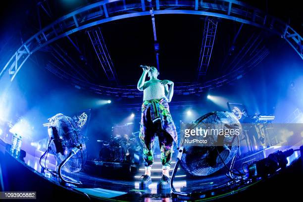 Olly Alexander of British synthpop band Years and Years performs live at Fabrique in Milano Italy on February 04 2019
