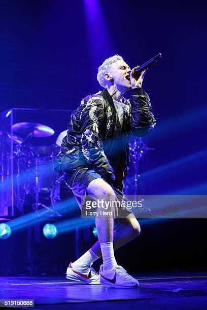 Olly Alexander of Years and Years performs at Bournemouth BIC on April 4 2016 in Bournemouth England