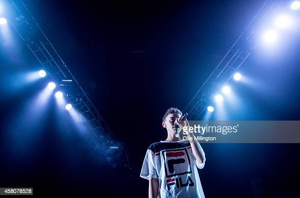 Olly Alexander of Years and Years performs on stage at Brixton Academy on October 29 2014 in London United Kingdom