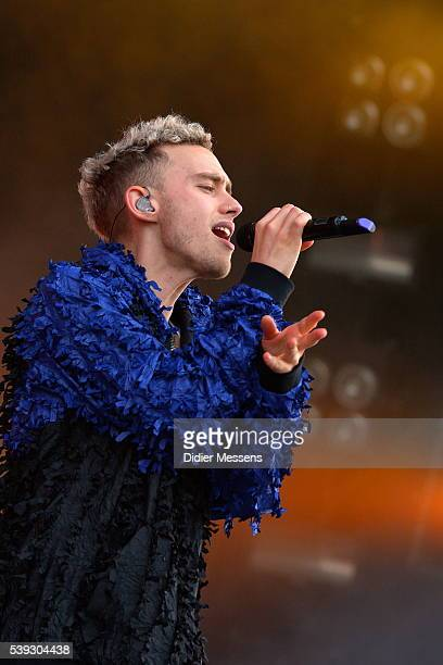 Olly Alexander of Years and Years performs on the first day of the 47th Pinkpop festival on June 10 2016 in Landgraaf Netherlands