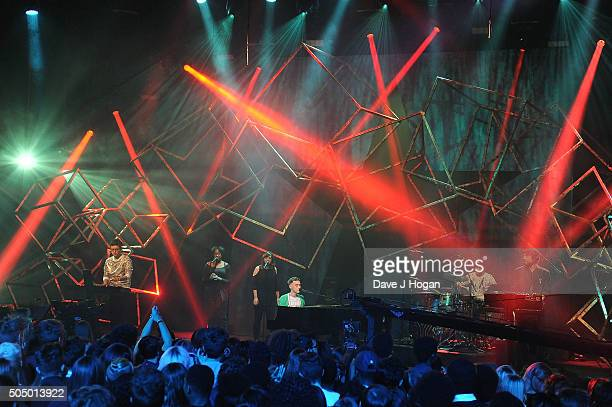 Olly Alexander of Years Years performing at the nominations launch for The Brit Awards 2016 at ITV Studios on January 14 2016 in London England