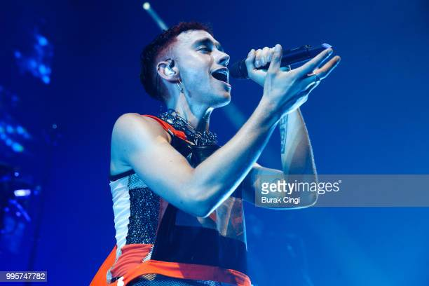 Olly Alexander of Years Years performs at the Palo Santo launch party at The Roundhouse on July 10 2018 in London England