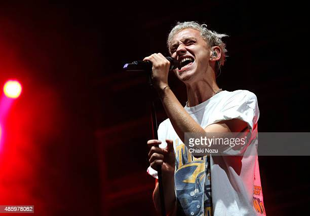 Olly Alexander of Years Years performs on Day 3 of The Reading Festival at Richfield Avenue on August 30 2015 in Reading England