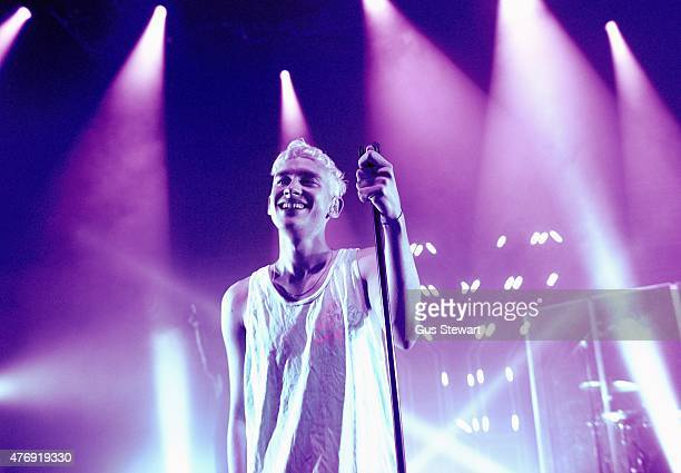 Olly Alexander of Years Years performs on stage at the O2 Shepherd's Bush Empire on June 12 2015 in London United Kingdom