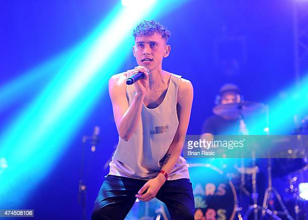 Olly Alexander of Years Years performs on stage during BBC Radio 1's Big Weekend at Earlham Park on May 23 2015 in Norwich England