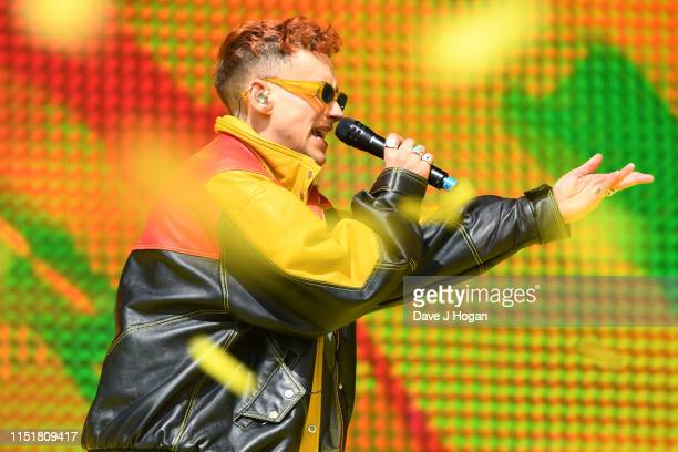 Olly Alexander performs with Jax Jones at the Radio 1 Big Weekend at Stewart Park on May 26 2019 in Middlesbrough England