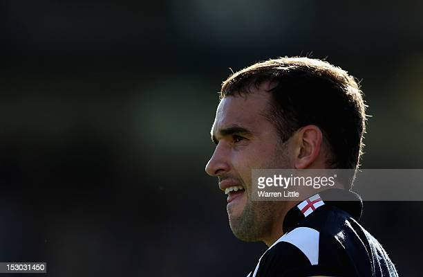 Olly Barkley of Bath looks on during the Aviva Premiership match between Bath Rugby and Sale Sharks at Recreation Ground on September 29 2012 in Bath...