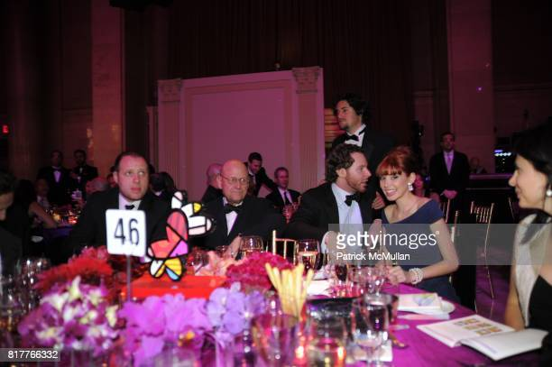 Olly Bengough Ed Pressman Sean Parker Alexandra Lenas attend GABRIELLE'S ANGEL FOUNDATION FOR CANCER RESEARCH Hosts ANGEL BALL 2010 at Cipriani Wall...