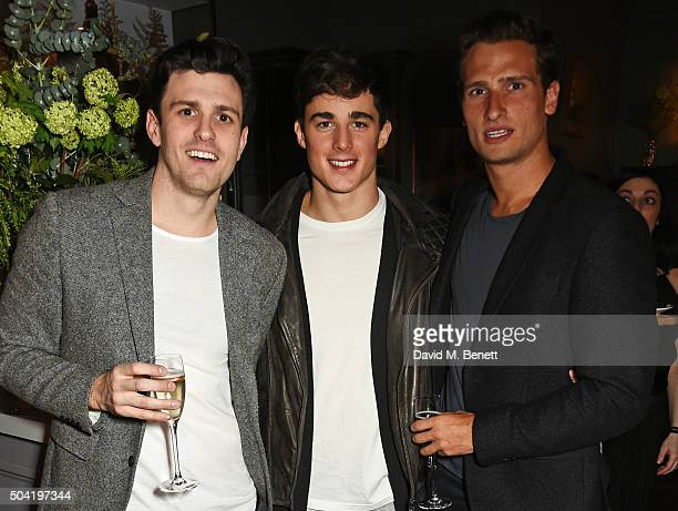 Olly Hudson Pietro Boselli and Tom Warren attend COACH Men's Fall/Winter 2016 Party hosted by Stuart Vevers at The Lady Ottoline on January 9 2016 in...