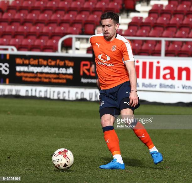 Olly Lee of Luton Town in action during a friendly match between Northampton Town and Luton Town at Sixfields Stadium on March 7 2017 in Northampton...