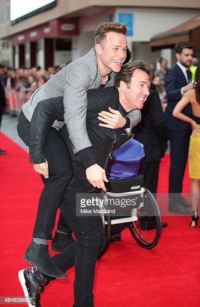 Olly Murs and Jonathan Ross attend the World Premiere of 'The Bad Education Movie' at Vue West End on August 20 2015 in London England