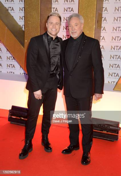 Olly Murs and Sir Tom Jones attend the National Television Awards 2020 at The O2 Arena on January 28 2020 in London England