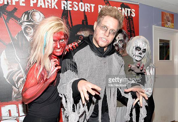 Olly Murs attends Friday Night VIP Event held in at Thorpe Park on October 9 2014 in Chertsey England