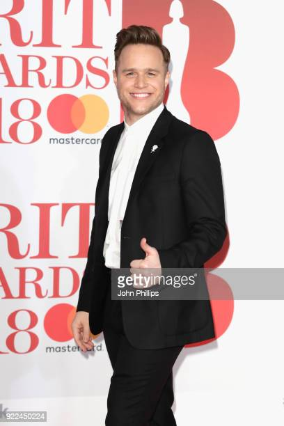AWARDS 2018*** Olly Murs attends The BRIT Awards 2018 held at The O2 Arena on February 21 2018 in London England