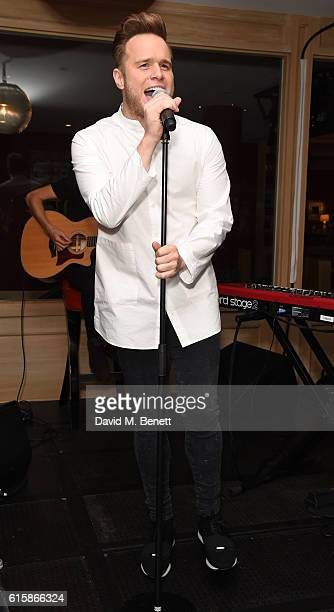 Olly Murs attends the exclusive album playback of Olly Murs' new album '24 HRS' at The Ham Yard Hotel on October 20 2016 in London England