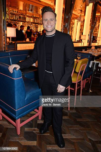 Olly Murs attends the GQ dinner hosted by Dylan Jones and David Beckham to celebrate London Fashion Week Men's January 2019 at Brasserie Of Light in...