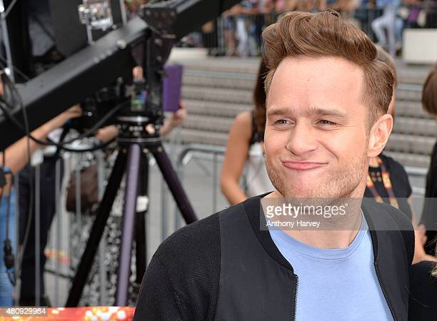 Olly Murs attends the London auditions of The X Factor at SSE Arena on July 16 2015 in London England