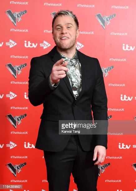 Olly Murs attends the new series launch of The Voice UK 2019 at The Soho Hotel on December 16 2019 in London England