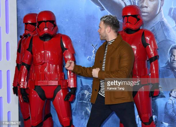 Olly Murs attends the Star Wars The Rise of Skywalker European Premiere at Cineworld Leicester Square on December 18 2019 in London England