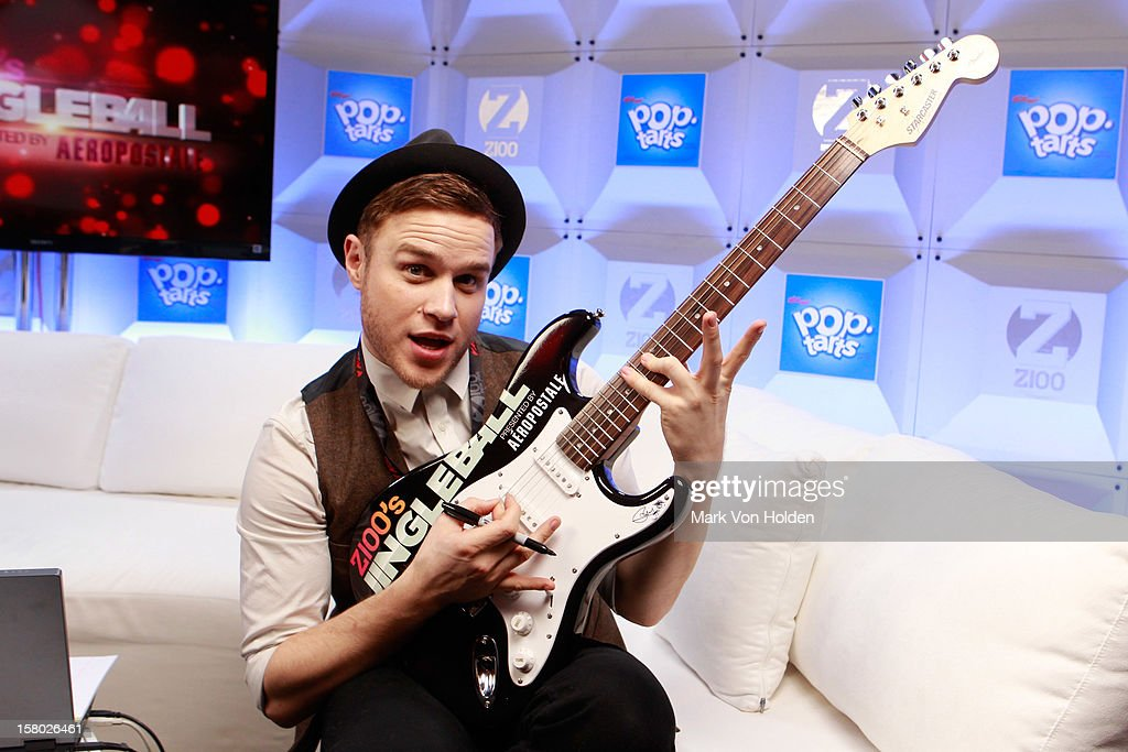 Olly Murs attends the Z100 Artist Gift Lounge Presented by Pop Tarts at Z100's Jingle Ball 2012 at Madison Square Garden on December 7, 2012 in New York City.