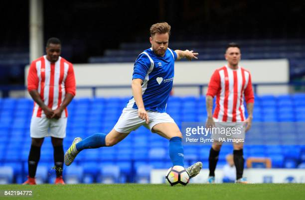 Olly Murs during the Bradley Lowery charity match at Goodison Park Liverpool