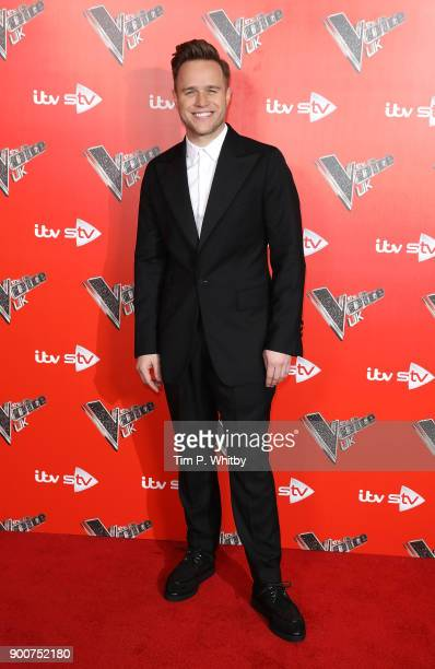 Olly Murs during The Voice UK Launch photocall held at Ham Yard Hotel on January 3 2018 in London England