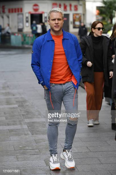 Olly Murs leaving Capital Radio Studios on March 03, 2020 in London, England.