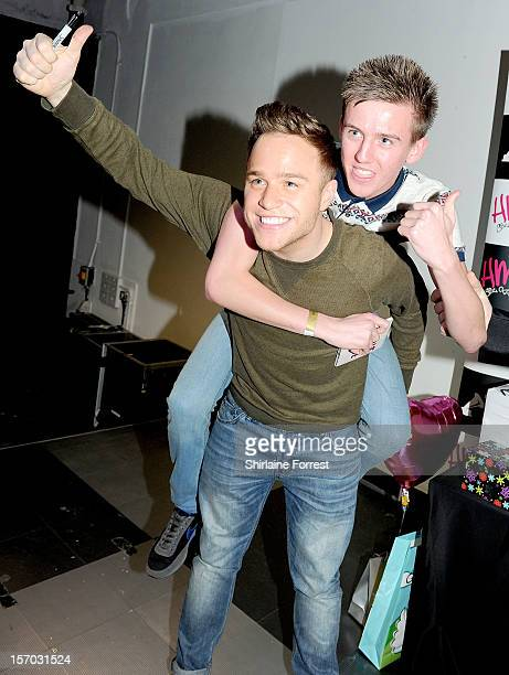 Olly Murs meets fans and signs copies of his album 'Rigt Place Right Time' at HMV Market Street on November 27 2012 in Manchester England