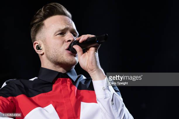 Olly Murs perform on stage at Bonus Arena on May 21 2019 in Hull England