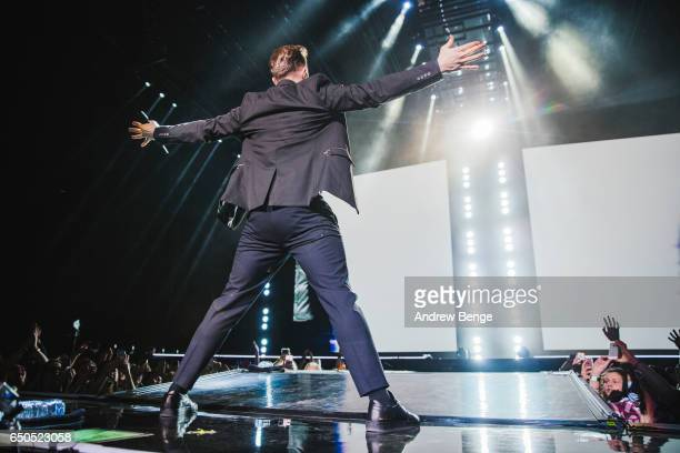 Olly Murs performs at First Direct Arena on March 9, 2017 in Leeds, England.