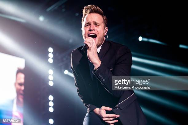 Olly Murs performs at Motorpoint Arena on March 20 2017 in Cardiff United Kingdom