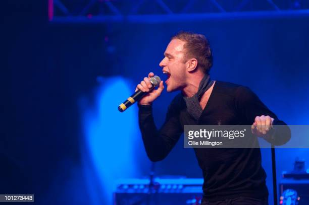 Olly Murs performs at The De Montfort University Summer Ball at The Athena on May 29 2010 in Leicester England