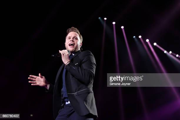 Olly Murs performs live on stage at O2 Arena on March 30 2017 in London United Kingdom