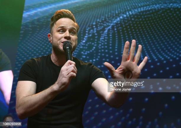 Olly Murs performs live on stage during 'Music 4 Mental Health' at The Roundhouse on November 18 2018 in London England