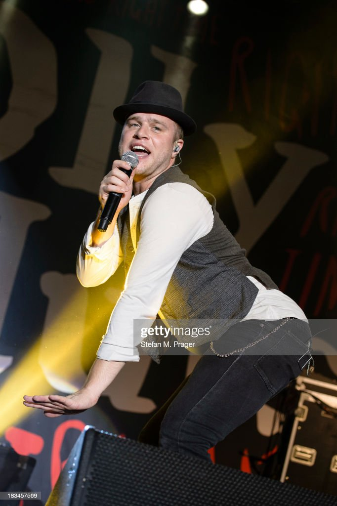 Olly Murs performs on stage at Zenith on October 6, 2013 in Munich, Bavaria.