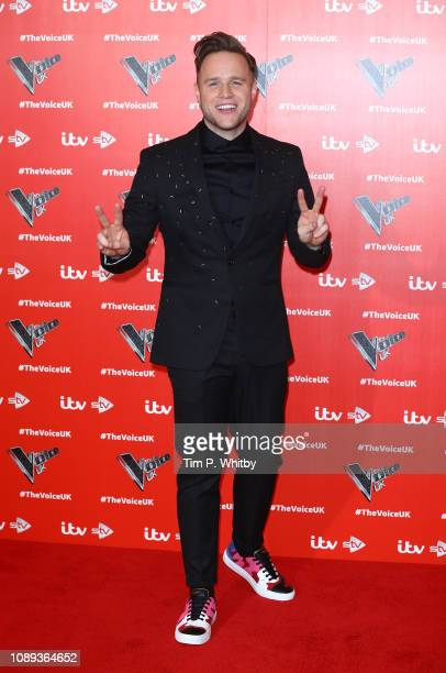Olly Murs poses for a photo during The Voice UK 2019 launch at W hotel Leicester Square on January 03 2019 in London England
