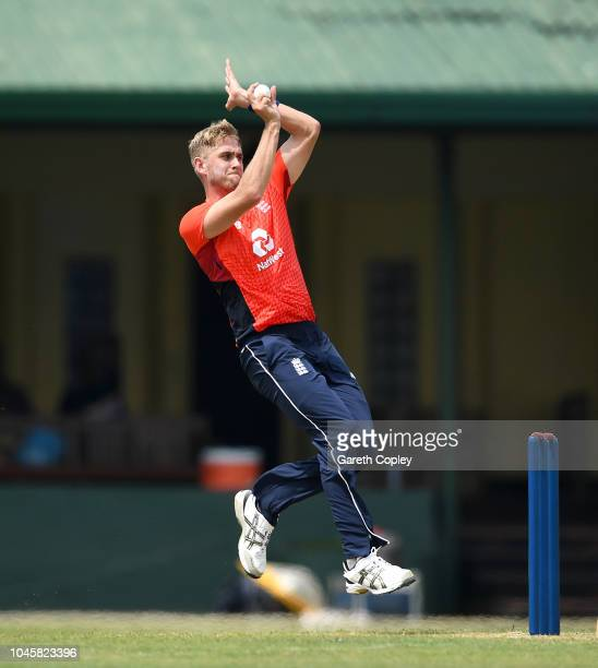 Olly Stone of England bowls during the tour match between Sri Lanka Cricket Board XI and England at P Sara Oval on October 5 2018 in Colombo