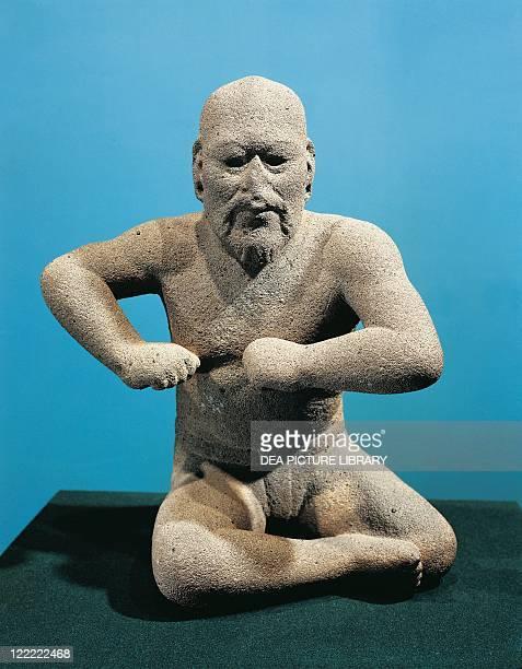 Olmec civilization Mexico circa 6th century bC Statue of a wrestler From Santa Maria Uxpanapan