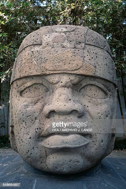 Olmec colossal head 1 known as The King and found in San Lorenzo Tenochtitlan Veracruz Mexico Olmec civilisation 13th10th century BC Xalapa Museo De...